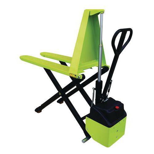 Porta-paletes elétrico ergonómico de grande elevação – capacidade de 1000kg – Pramac