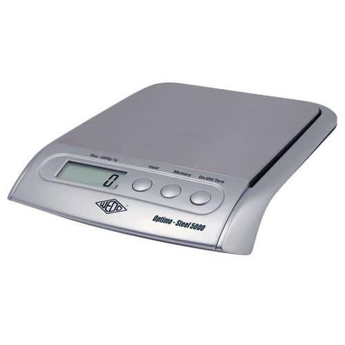 Balança para cartas e embalagens WEDO - Capacidade 5 kg - Cinzento metalizado