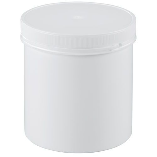 Recipiente plástico com tampa de rosca inviolável