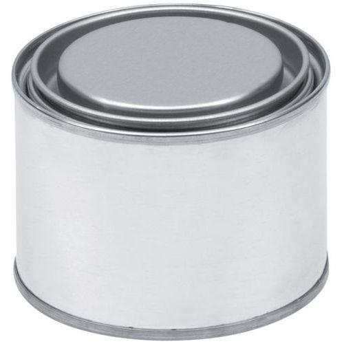 Caixa metálica redonda com tampa embutida