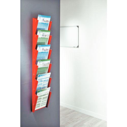 Expositor de parede para brochuras Shaula