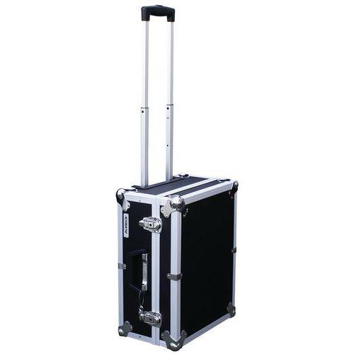 Caixa trolley multifunções com pega telescópica