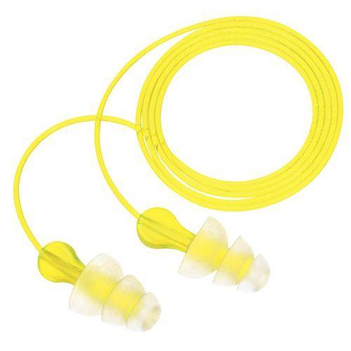 Tampões auriculares reutilizáveis Tri-Flange