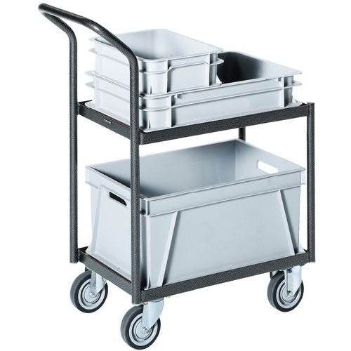 Carro aço para caixas - Comprimento 610 mm