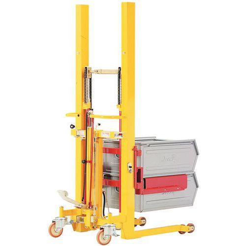 Empilhador elevador regulável em largura - Capacidade 300 kg