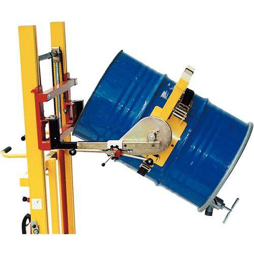 Basculador de bidões para empilhador - Capacidade de carga de 300 e 600 kg