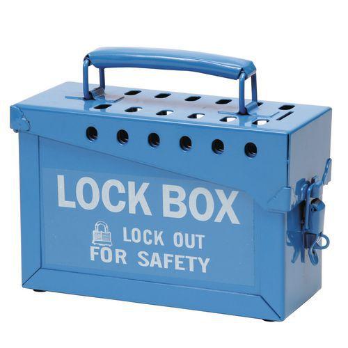 Caixa de bloqueio de grupo para cadeado – modelo grande