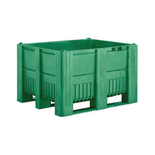 Caixa-palete de plástico em monobloco – 3 sapatas