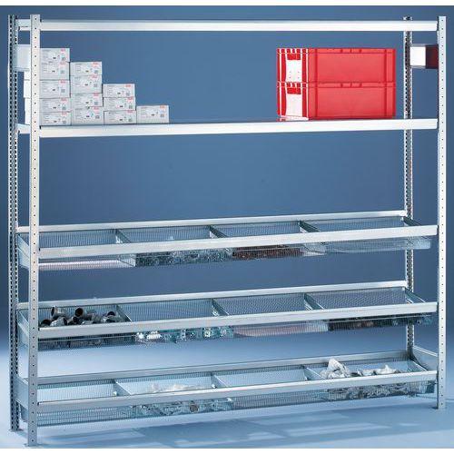 Estante Easy-Fix – Cesto gradeado – Altura: 2000mm – Profundidade: 400mm
