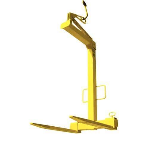Monta-paletes de garfos reguláveis - Capacidade 2 000 kg - Equilíbrio automático