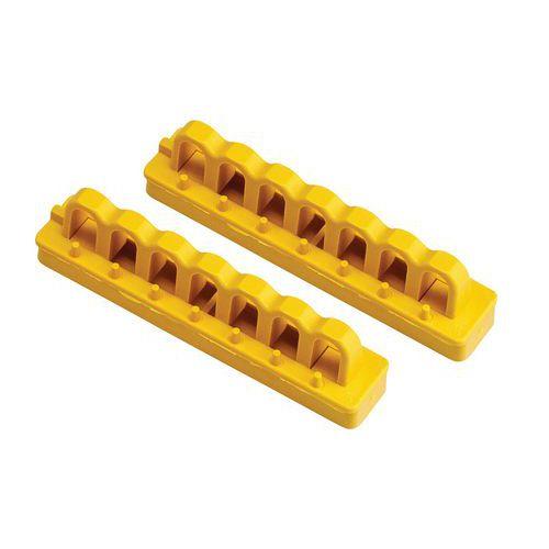 Calhas de montagem para bloqueio de disjuntor