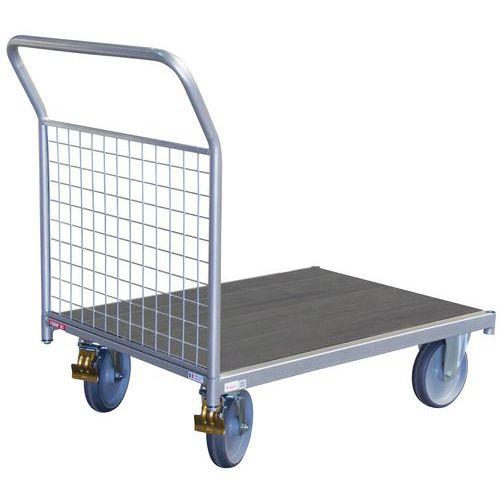 Carro com espaldar fixo gradeado - Capacidade: 500kg