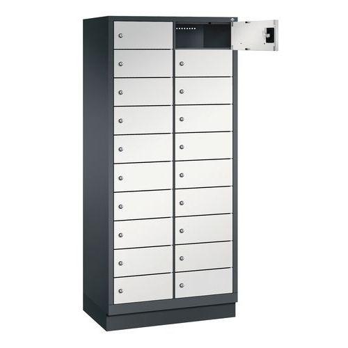 Armário para PC com 10 e 20 compartimentos - 1 e 2 colunas de 400 mm de largura - Com base