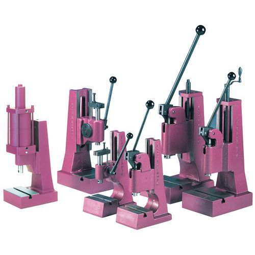 Prensa manual - Capacidade de 0,8 e 1,7 toneladas