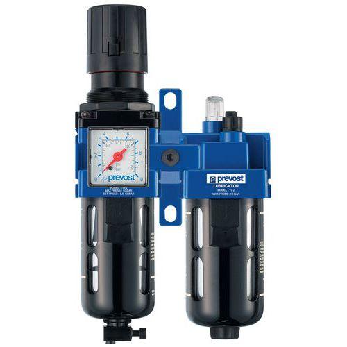 Filtro regulador lubrificador de 2 blocos