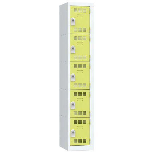 Cacifo multicompartimentos – 1 coluna – 5 compartimentos – 300 mm de largura