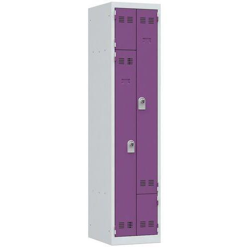 Cacifo economizador de espaço em L – 1 coluna – 400mm de largura