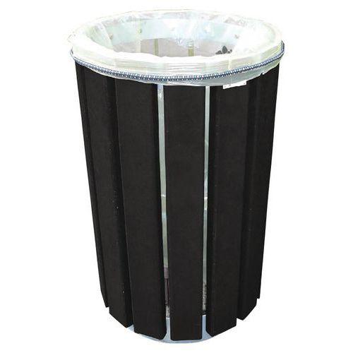 Caixote de lixo redondo Escapade Eco – Sacos fixados por elástico – 90L
