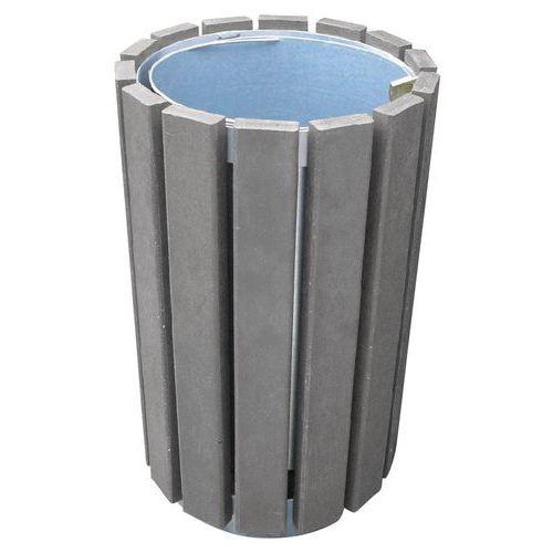 Caixote de lixo redondo sem tampa Escapade – Com cadeado – 70L