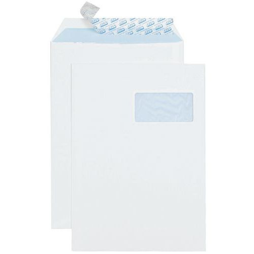 Envelope de papel velino branco de 90 g – com janela