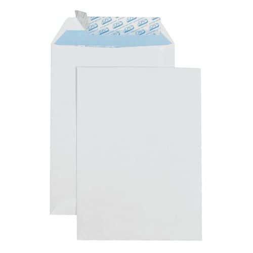 Envelope de papel velino branco de 90 g – sem janela