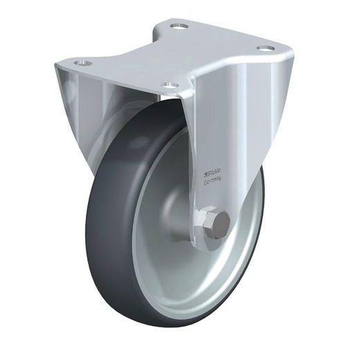 Rodízio fixo com placa – Capacidade de carga de 200kg