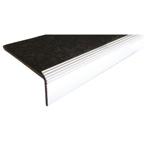 Perfil de cantoneira 5 preto em alumínio e polímero de 1500mm de aparafusar
