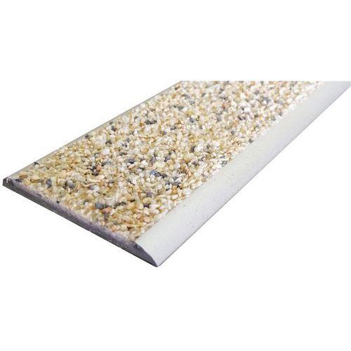 Perfil de plataforma de degrau em alumínio e polímero de 1500mm – de aparafusar
