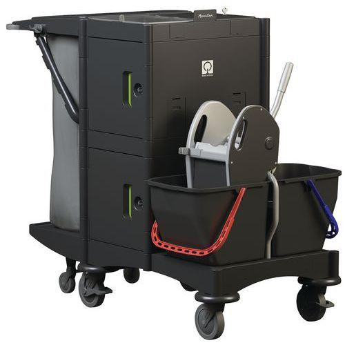 Carro de limpeza e lavagem com compartimentos – Manutan
