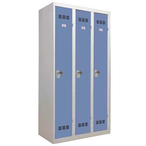Cacifo em forma de monobloco industrial limpo – 3 colunas – Largura: 300mm - Vinco