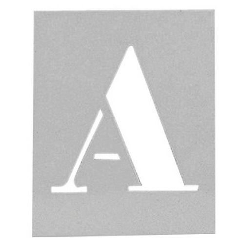 Máscara em alumínio - Conjunto de 26 letras