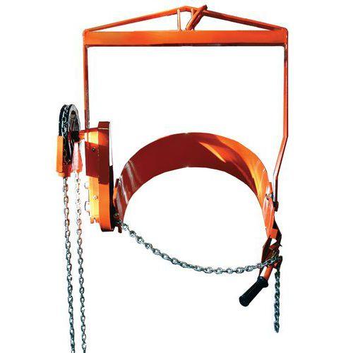 Empilhador de bidões com corrente de 360kg