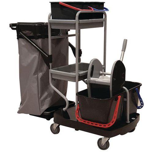 Carro de limpeza com suporte para sacos – Manutan