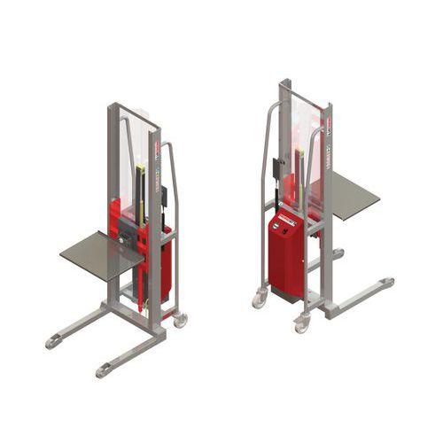 Empilhador GR semielétrico com plataforma em inox – capacidade de 300kg