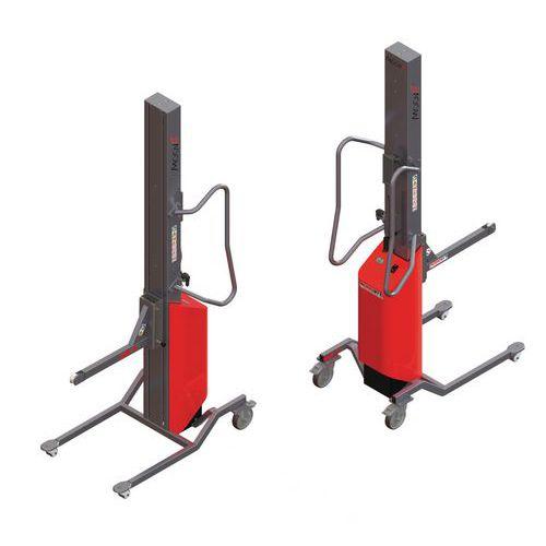 Empilhador Moovit com espigão com rolete – capacidade de 80kg