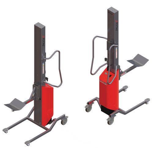 Empilhador Moovit com espigão com rolete e plataforma em V – capacidade de 80kg