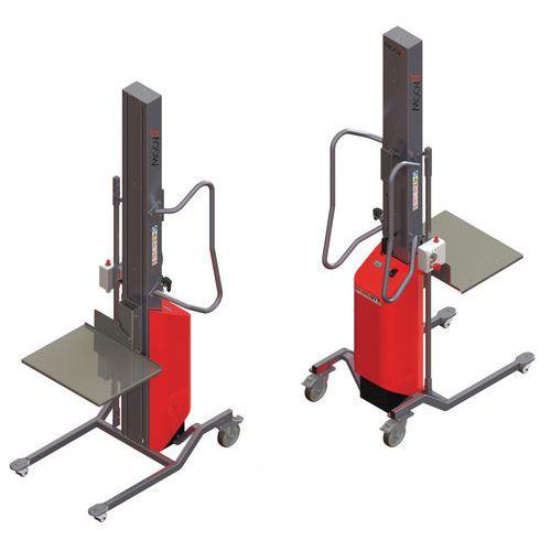 Empilhador Moovit com plataforma de nível constante em inox – capacidade de 80kg