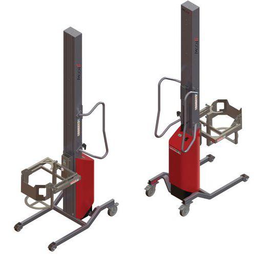Empilhador Moovit com virador de bidões – capacidade de 80kg