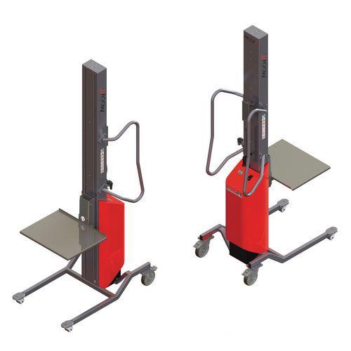 Empilhador Moovit com plataforma em inox – capacidade de 80kg