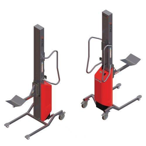 Empilhador Moovit com espigão com rolete e plataforma em V – capacidade de 150kg