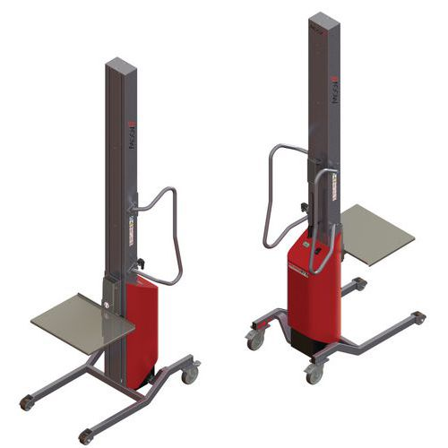 Empilhador Moovit com plataforma em inox – capacidade de 150kg