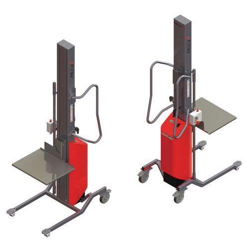 Empilhador Moovit com plataforma de nível constante em inox – capacidade de 150kg