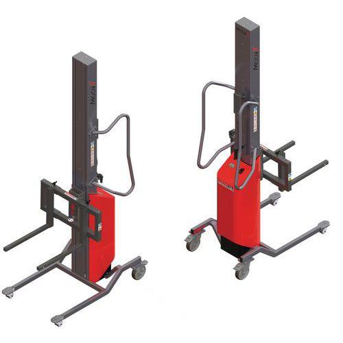 Empilhador Moovit com garfos corrediços – capacidade de 80kg
