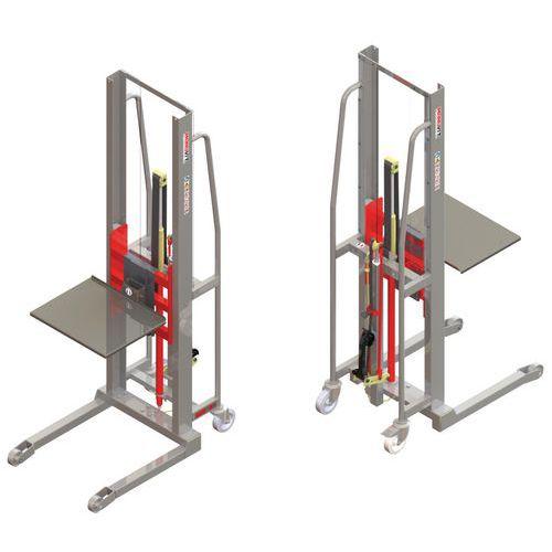 Empilhador GR manual com plataforma em inox – capacidade de 300kg