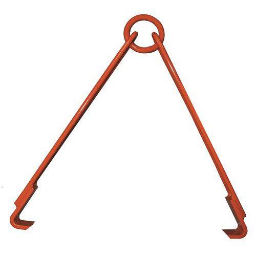 Pinça vertical e horizontal com 2 braços livres para bidões – capacidade de carga de 500kg