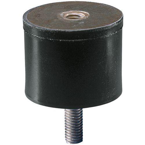 Suporte antivibrações universal com 1 haste roscada e rosca interior - Tamanho roscagem M10