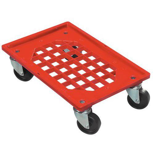 Plataforma móvel em plástico - Para caixas de norma europeia - Capacidade de 250 kg