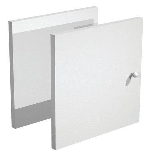 Porta para móvel de arrumação Maxicube – alumínio/faia – conjunto de 2