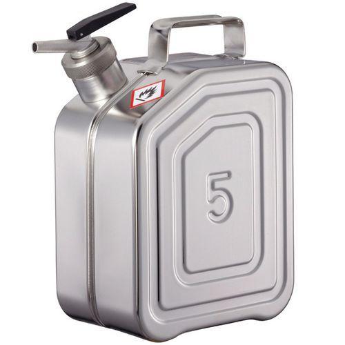 Jerrican inox - Capacidade de armazenamento 5 L