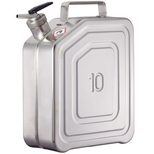 Jerrican inox - Capacidade de armazenamento 10 L